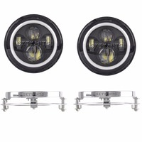 7 inch LED Headlight low high beam with 7mounting bracket ring support for je ep Wr angler