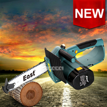 New 220V Small Electric Chain saw ET2506 Rechargeable Miniature Electric Chain Saws Household Woodworking Saws 2000 mAh 250MM