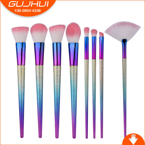 8 make-up brush suit, beauty and makeup tool grind sand brush fan brush GUJHUI rhyme тушь make up factory make up factory ma120lwhdr04