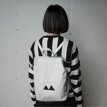 YIZI Fresh Embroidery Canvas Backpacks With Metal Frame Clasp For Teenage Girls FUN KIK