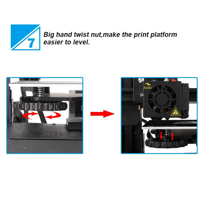 US $239 99 50% OFF|Creality Ender 3 V slot I3 3D Printer Kit MK10 Extruder  1 75mm 0 4mm Nozzle 220x220x250mm Size 3D Printer-in 3D Printers from