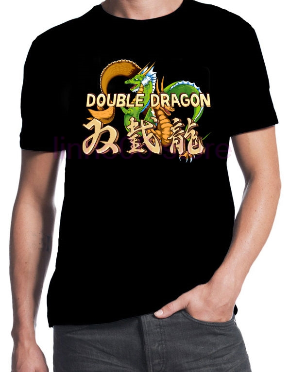 Double Dragon Inspired Classic Street Arcade Console Fight Game T-Shirt 2019 New 100% Cotton Top Quality  Top Tee T Shirt