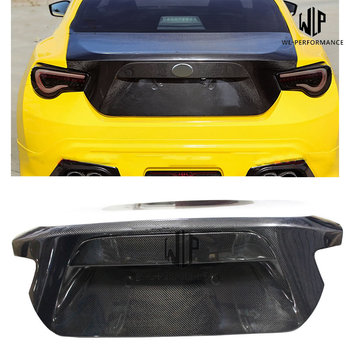 High quality Carbon Fiber Rear Trunk Hood Bonnets Car Styling For Toyota GT86 BRZ OEM Style Car Body Kit 12-18 image