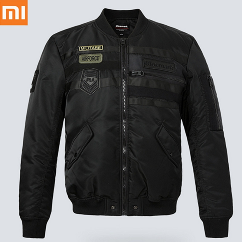 Fashion Xiaomi Uleemark Pilot Style MEN Jacket Zip Waterproof Velvet Nylon Jacket Multi Pocket Heat Storage
