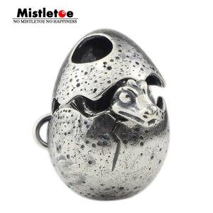 Image 1 - ヤドリギ925スターリングシルバードラゴン卵チャームビーズフィット欧州ブレスレットジュエリー