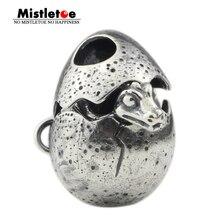 Mistletoe 925 Sterling Silver Dragon egg Charm Bead Fit European Bracelet Jewelry