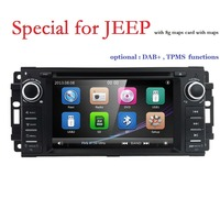 car monitor DVD player for Jeep grand wrangler 2015/patriot/compass/journey with GPS navigation,radio,RDS LOGO DAB SWC BT MIC SD