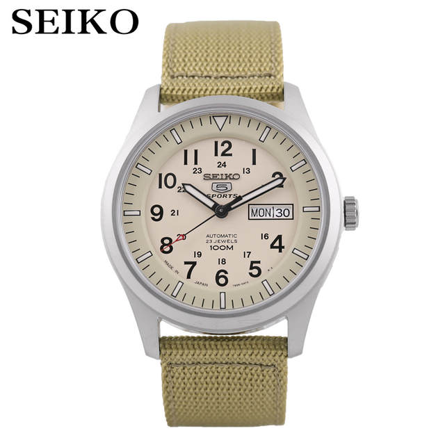 2a3573d2b9c SEIKO Watch N ° 5 Automático Moda mecânico automático homens relógio à  prova d  água SNZG13J1 SNZG11K1 SNZG07J1 SNZG17J1 SNZG09J1 Loja Online