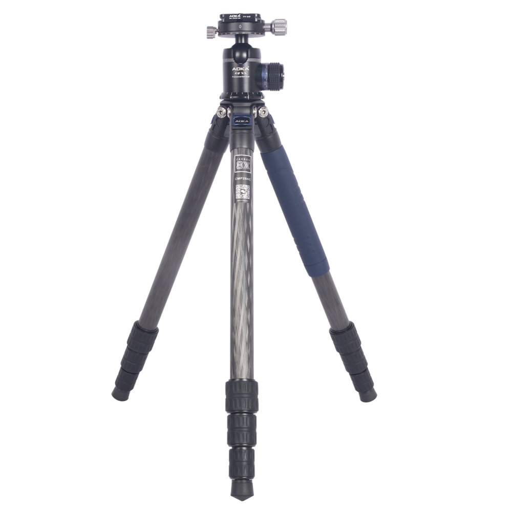Image 2 - AOKA CMP254C Max loading 13kgs Professional travel lighweight carbon fiber compact camera tripod with no central columnTripods   -