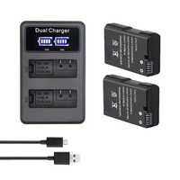 EN-EL14 EN-EL14a EN EL14 Camera Battery Pack + LCD USB Dual Charger for Nikon P7800,P7100,D3400,D5500,D5200,D3200,D3300,D5300