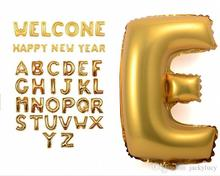 16 Inch Gold Silver Alphabet Helium Aluminum Foil Balloon 26 Letters Wedding Christmas Birthda Party Decoration Supplies