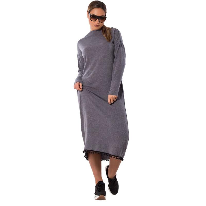 Big size 6XL 2019 Spring Woman Dress Loose solid patchwork long dresses Fat  MM plus size 94ed2a1bca0f