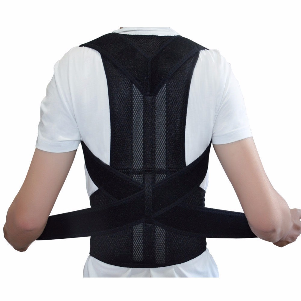 buy scoliosis posture corrector lumbar support belt round shoulder back brace. Black Bedroom Furniture Sets. Home Design Ideas