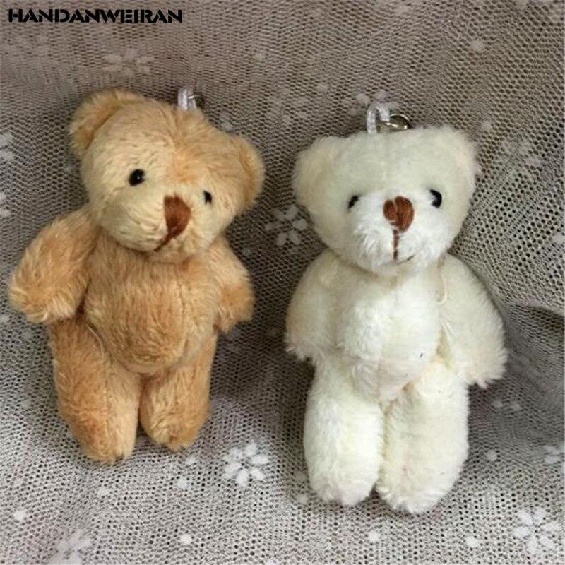 1PCS Mini Joint Bear Stuffed Plush Toys Small Pendant Creative Cute Flexible Limbs Bear Toy Kids Gifts Boutique 2019 Hot New 8CM