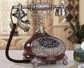 Коричневый и белый Античный Европейский Ретро Телефон Стационарный Антикварная Имитация Дерева Антикварная Шнуровой телефон