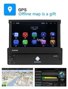 Image 4 - 1din Android 8.1 GO Quad Core voiture DVD GPS lecteur de Navigation 7 Universa autoradio WiFi Bluetooth MP5 lecteur multimédia
