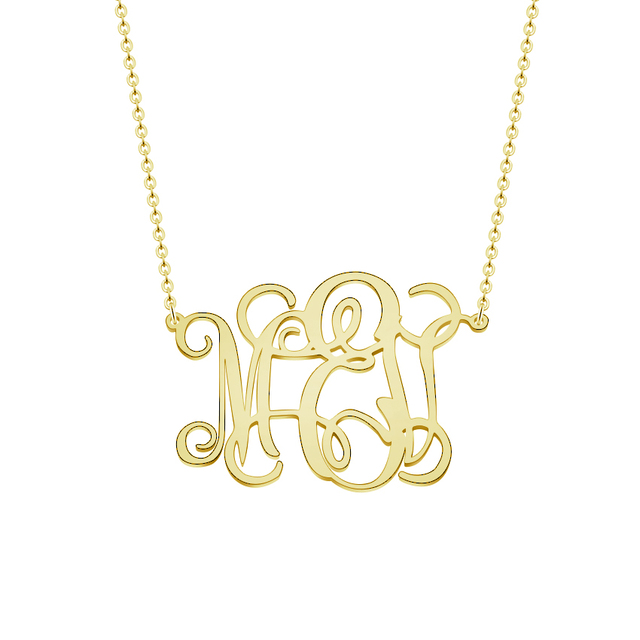 aliexpress buy personalized gold monogram necklace