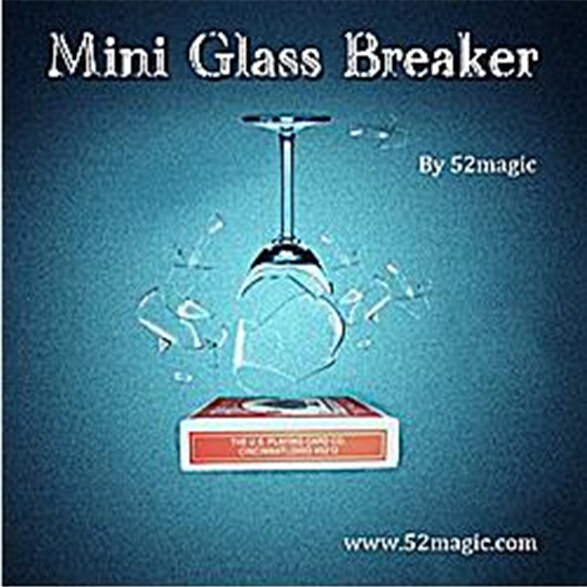 Mini Glass Breaker (card box version) - Magic Tricks,Card magia,Illusions,Stage Magie Props,Mentalism,Close Up,Gimmick,Toys free shipping magic tricks color pen prediction plastic pen holder mentalism magic stage magic magic props
