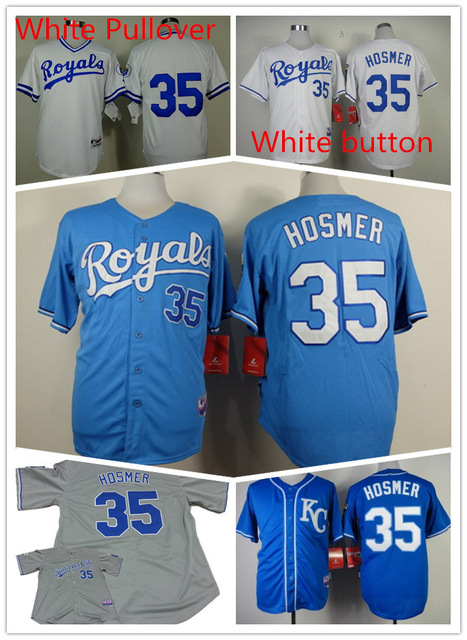 a56c47788 Men s Kansas City Royals Jersey  35 Eric Hosmer Jersey Cool base team  Baseball jersey with button Stitched