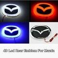 1 Шт. 5D led автомобиль логотип свет значка автомобиля стикер авто лампы Эмблема Лампа для Mazda 6 3 2 8 CX7 Автомобиль укладки