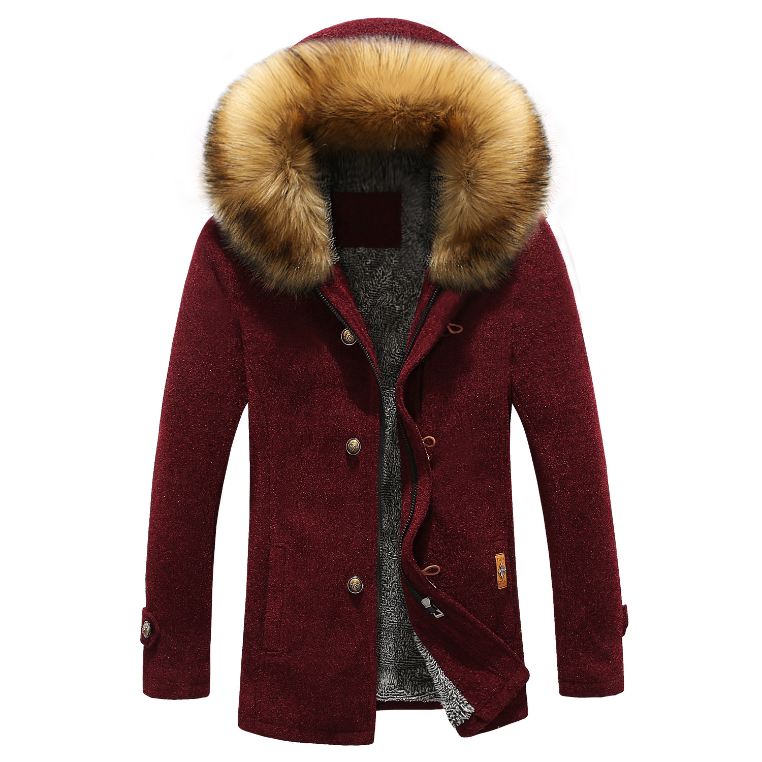 Men Fashion Parkas Winter Thick Warm Men s Jacket and Coats Casual Hooded Long Coat Outwears
