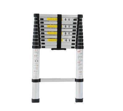 2m retractable folding aluminum upright ladder, multi-purpose home/library/engineering ladder