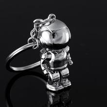 2019 Lovely Fashion WKOUD 1 Pcs 3D Astronaut Keychain Space Robot Zinc Alloy Key Ring Pendant Gifts