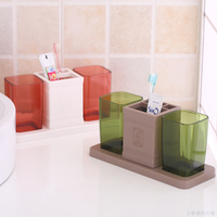 New Couple family home dual cup toothbrush holder suit toothbrush holder Organizer Bathroom Accessories