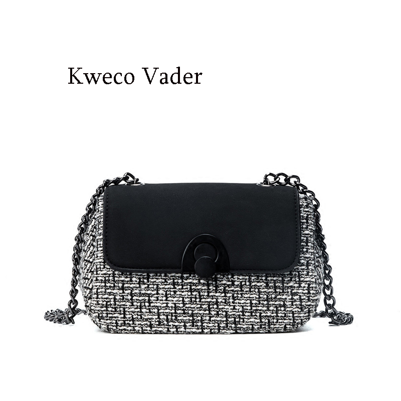 Fashion Crossbody Bags for Women 2017 Kweco Vader Brand Women Handbags Small Chain Shoulder Bag Bolsos Mujer Sac a Main 2017 oxford waterproof portable bento bag a bag of women s bags for lunch travel shoulder bag sac femme bolsos handbags