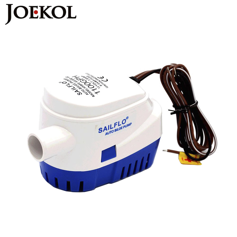 Free Shipping Automatic Bilge Pump 1100GPH Submersible Boat Water Pump 12V 24V Electric Pump For Boats