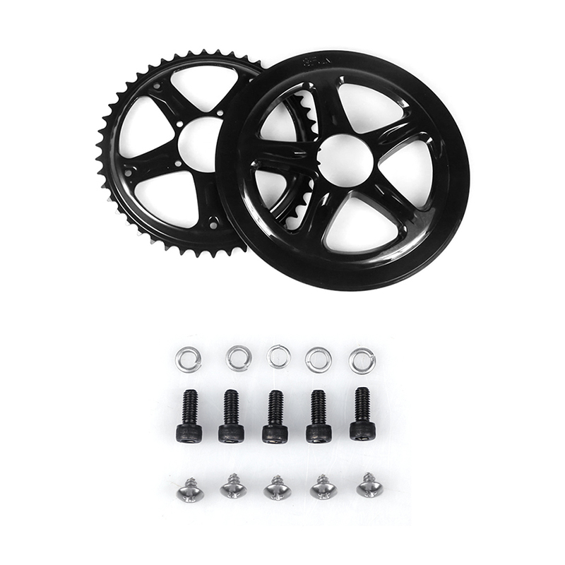 Image 2 - Bafang BBS01 BBS02 Electric Bike Chain Wheel Replacement Chainwheel Guard  44T 46T 48T 52T Chain Teeth for BBS01B BBS02B MotorElectric Bicycle Accessories   -