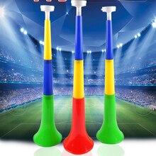 Случайный цвет Европейский Кубок Музыкальные инструменты съемный футбольный стадион cheer Horns Vuvuzela рожок для чирлидинга ребенок Трубач-игрушка