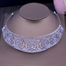 Brilliant Crystal Women Tiaras Hairband Women Bride Crown Fashion Jewelry White Gold Color Tiaras Hair Accessories H-025