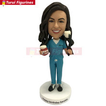 Female Dentist Personalized Gift Custom Dentist Bobble Head Female Dentist Birthday Cake Topper Girlfriend Birthday Gift Dentist demon dentist