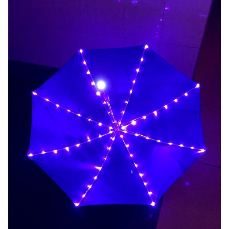 Scène extérieure nuit coloré LED artisanat parapluie Photo Studio accessoires parapluie éblouir illuminer automatique scène lumière parapluie
