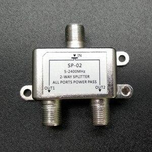 Image 2 - 2 Manieren Tv Satelliet Splitter 5 2500 Mhz Satelliet Tv Signaal Ontvanger Ontworpen Sat Coax Diplexer Combineren Voor Satv/Catv