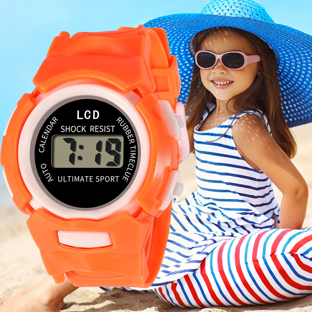 DUOBLA Children Girls Analog Digital Sport LED Electronic Waterproof Wrist Watch New Electronic Wrist Watch For Boy Girl Giftz70