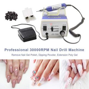 Image 4 - MAKARTT 30000RPM JD700 Electric Nail Drill Machine Foot Pedal Acrylic Bits Set High Speed Bearings Low Heat Low Noise E0811