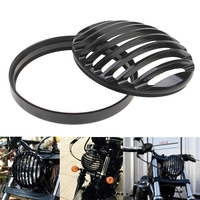 Black Anodized Motorcycle Headlight Grill Cover Lights Cafe Racer For Suzuki Yamaha Harley Sportster XL883 XL1200 2004 2014 ATV