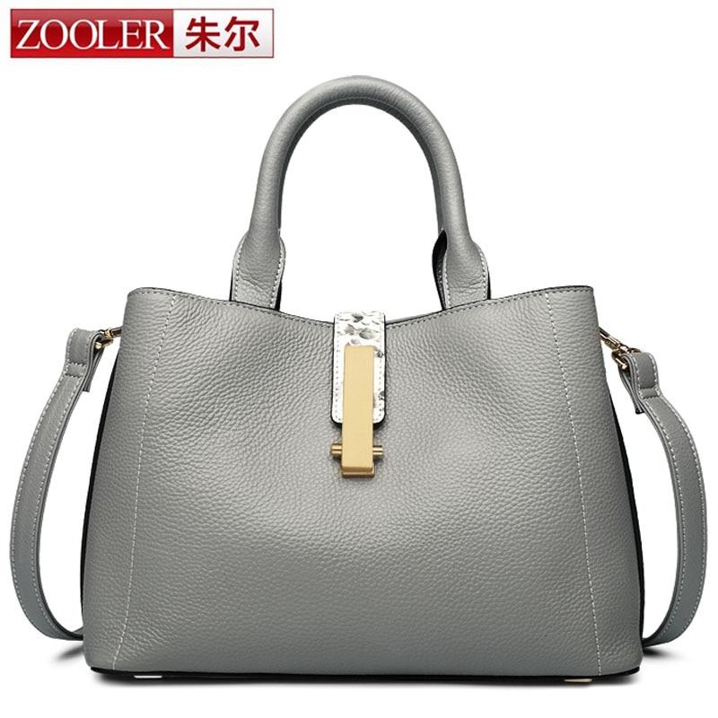 ZOOLER Handbag Women Messenger Bag Top Layer Genuine Cow Leather Business Handbags Brand Fashion Casual Ladies Shoulder Bag Tote