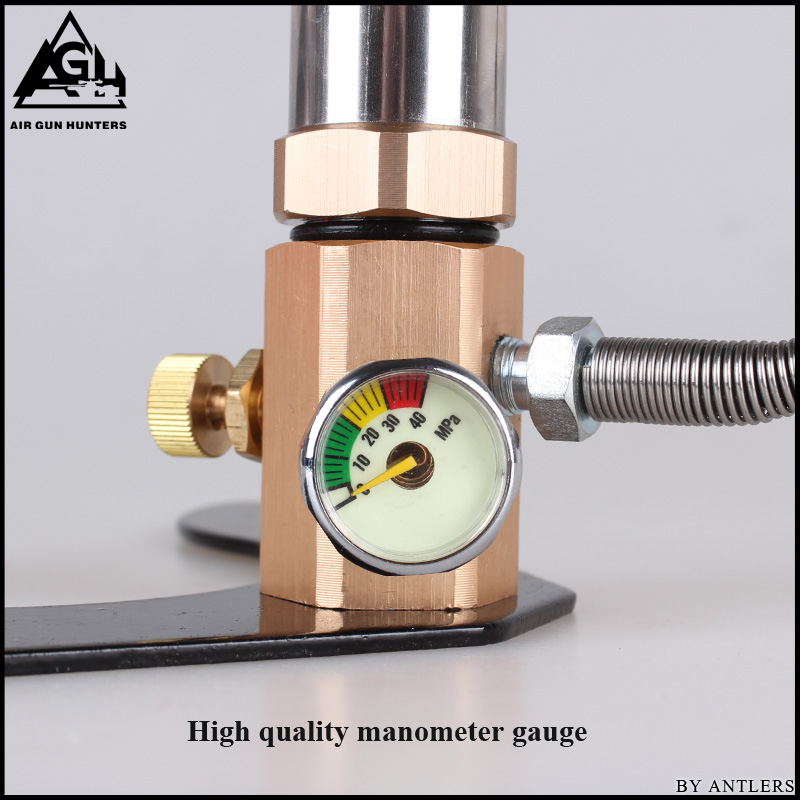 Image 3 - 30Mpa 4500psi 200Bar 3 Stage High pressure Air PCP Rifle Paintball Diving hand pump with filter Mini Compressor not hill pump-in Pumps from Home Improvement