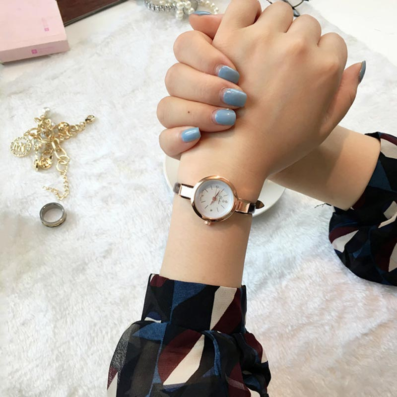 Crystal Zircon Thin Leather Strap Quartz Watch Wristwatches for Women Ladies Girls LXH cute rose gold crystal flower thin strap small dial leather quartz women ladies wristwatches wrist watch gift