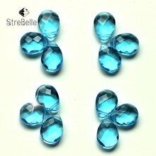 купить Aquamarine P0004 Diy Jewelrys Accessories Parts 50pcs/lot pear-shape cross-hole For earrings bracelets making по цене 371.57 рублей