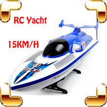 Summer Gift 4CH RC High Speedboat Remote Control Motor Yacht Water Match Ship Long Distance Outdoor Drive Boys Favour Speed Toy