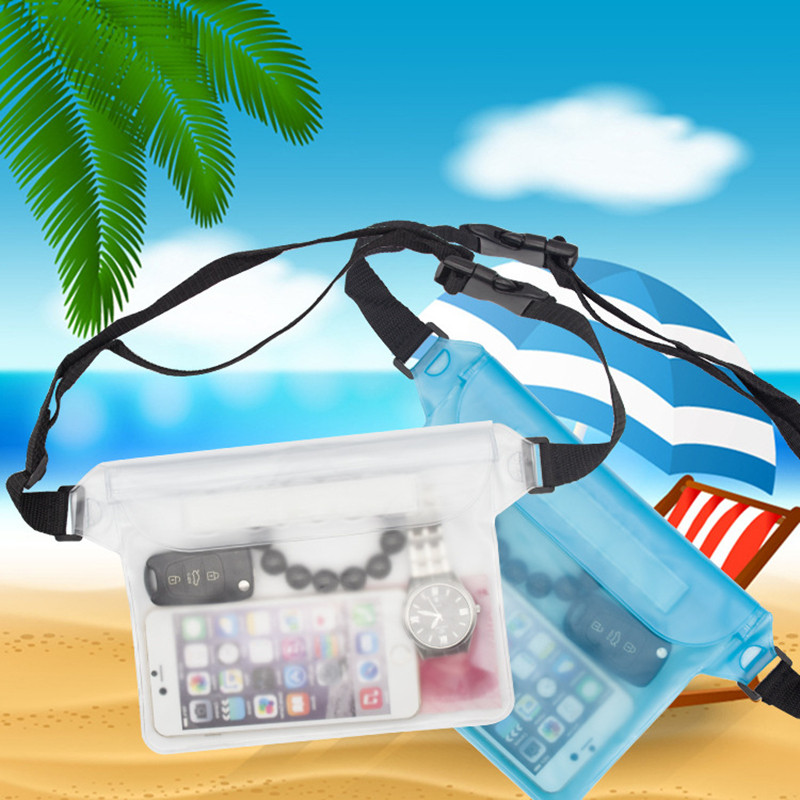 Summer Swimming Bag Waterproof Pouch Ski Drift Diving Waist Pack Underwater Mobile Phone Bags Case For Beach Boat Water Parks