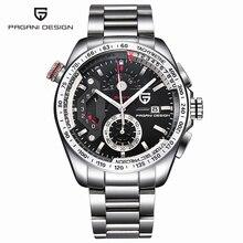 Relojes Hombres Lujo Marca Sport Reloj de Buceo 30 m Militar Relojes de Cuarzo Multifunción Reloj Pagani Diseño 2016 Reloj Hombre