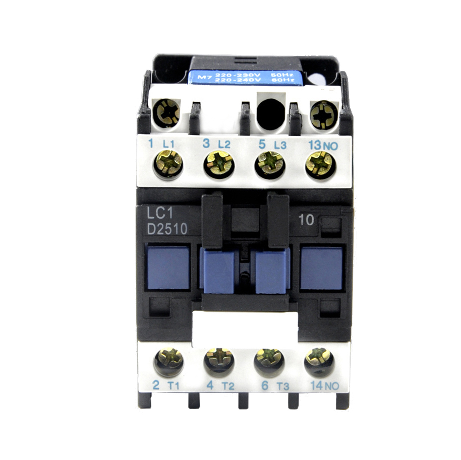 цена на ELECALL CJX2-2510/ (LC1-D) AC 25A Motor Magnetic Contactor 3 phase 3P 3 Pole 1NO 220V 380V Coil Volt CJX2 Contacts Relay