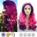 Купить фигурной стрижки розовый парик жаропрочных синтетический курчавый парик стать хороший красивые девушки