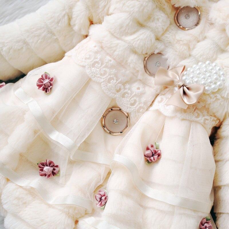 rendas flor outono inverno vestir roupas bebê
