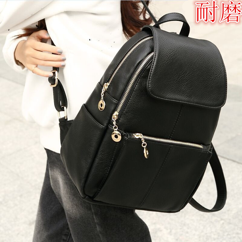 Fashion Women Backpack High Quality PU Leather Mochila Escolar School Bags For Teenagers Girls Top-handle Backpacks